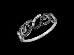 Bague Adagio - Or blanc 9 carats et diamants 0.30 carat