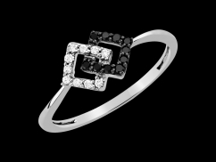 Bague Together - Argent 925 et diamants 0.15 carat