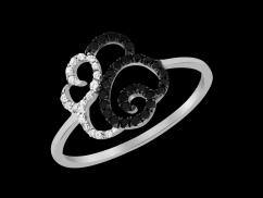 Bague Opéra - Or blanc 18 carats et diamants 0.20 carat