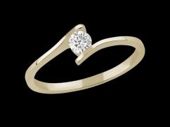 Solitaire Ma Demande - Or jaune 18 carats et diamant 0,20 carat
