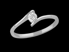 Solitaire Ma Demande - Or blanc 18 carats et diamant 0,20 carat