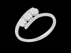Bague Luminescence II - Or blanc 18 carats et diamants 0.30 carat