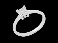 Solitaire Sagesse - Or blanc 9 carats et diamants 0.20 carat