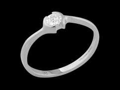 Solitaire Only You - Or blanc 18 carats et Diamant 0.15 carat