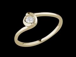 Solitaire Mon Destin - Or jaune 9 carats et diamant 0.10 carat