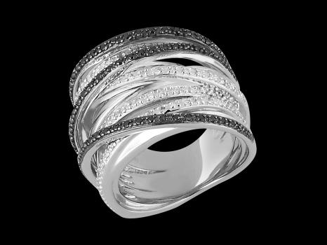 bague euphorie argent 925 et diamants carat taille 48. Black Bedroom Furniture Sets. Home Design Ideas