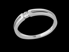 Solitaire Alegria - Or blanc 9 carats et diamant 0.08 carat