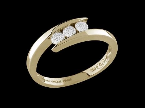 bague or diamant 18 carats