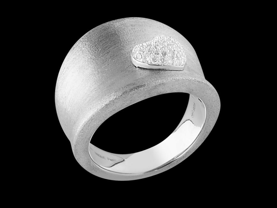 bague adorable argent 925 bross et diamants carat taille 48. Black Bedroom Furniture Sets. Home Design Ideas