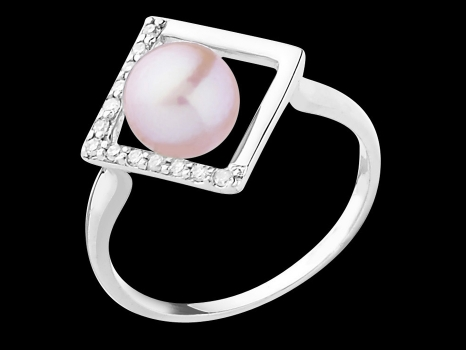 bague perle taille 48