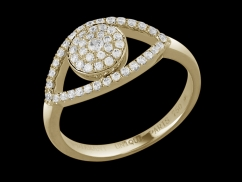 Bague Clin d'oeil - Or Jaune 18 carats et diamants 0.25 carat