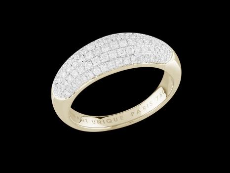 bague symphonie or jaune 18 carats et diamants 0 50 carat taille 48. Black Bedroom Furniture Sets. Home Design Ideas
