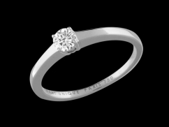 Solitaire My Love - Or blanc 18 carats et diamant 0,20 carat