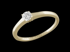 Solitaire My Love - Or jaune 18 carats et diamant 0,20 carat
