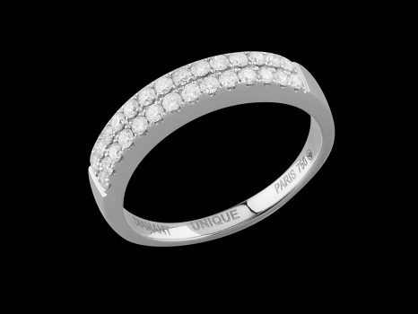 Alliance Implicite - Or blanc et diamants 0,50 carat