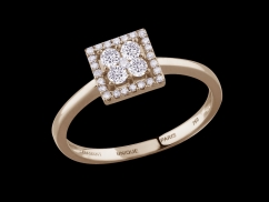 Bague Lady - Or rose 18 carats et diamants 0,30 carat
