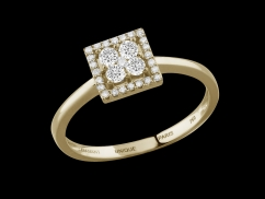 Bague Lady - Or jaune 18 carats et diamants 0,30 carat