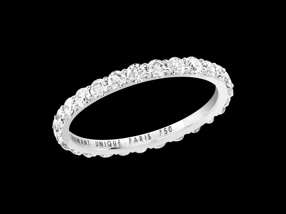 1df1d0849677f Alliance Une Belle Histoire - Or blanc 18 carats et diamants 1 carat ...