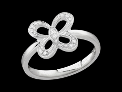 Bague So Free - Or blanc 18 carats et diamants 0,05 carat
