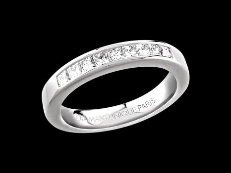 bague or blanc diamant 18 carats