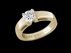 Solitaire My Life - Or jaune 18 carats et diamant 1 carat