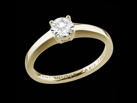 Solitaire My Love - Or jaune 18 carats et diamant 0,50 carat