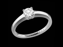 Solitaire My Love - Or blanc 18 carats et diamant 0,50 carat