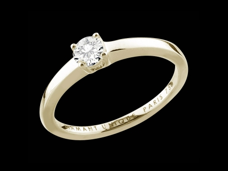 Solitaire My Love - Or jaune 18 carats et diamant 0,30 carat