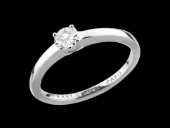 Solitaire My Love - Or blanc 18 carats et diamant 0,30 carat