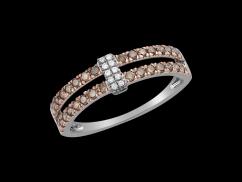 Bague Mondaine - Or blanc 18 carats et diamants 0.44 carat - Taille 50