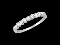 Demi alliance Promise - Or blanc 18 carats et diamants 0.15 carat