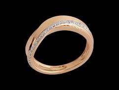 Bague Audacieuse - Or rose 18 carats et diamants 0.12 carat