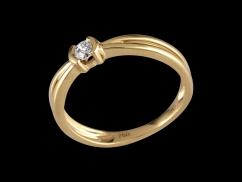Solitaire Mon Essentiel - Or jaune 18 carats et diamant 0.10 carat