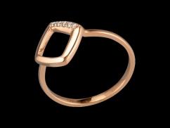 Bague Simplicité - Or rose 18 carats et diamants 0.04 carat