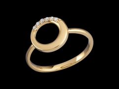 Bague Sérénité - Or jaune 18 carats et diamants 0.05 carat