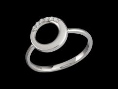 Bague Sérénité - Or blanc 18 carats et diamants 0.05 carat