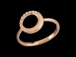 Bague Sérénité - Or rose 18 carats et diamants 0.05 carat