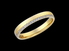 Alliance Eden - Or jaune 18 carats et diamants 0.26 carat