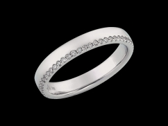 Alliance Eden - Or blanc 18 carats et diamants 0.26 carat - Taille 56