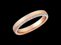 Alliance Eden - Or rose 18 carats et diamants 0.26 carat