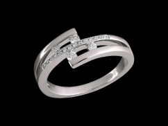 Bague Quatuor - Or blanc 18 carats et diamants 0.15 carat