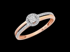 Bague Parcimonie - Or rose 18 carats et diamants 0.14 carat
