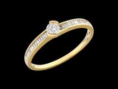 Solitaire Utopie - Or jaune 18 carats et diamants 0.36 carat