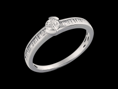 Solitaire Utopie - Or blanc 18 carats et diamants 0.36 carat