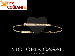 Bracelet Etiquette Coeur Grand modèle - Or jaune, diamants et onyx
